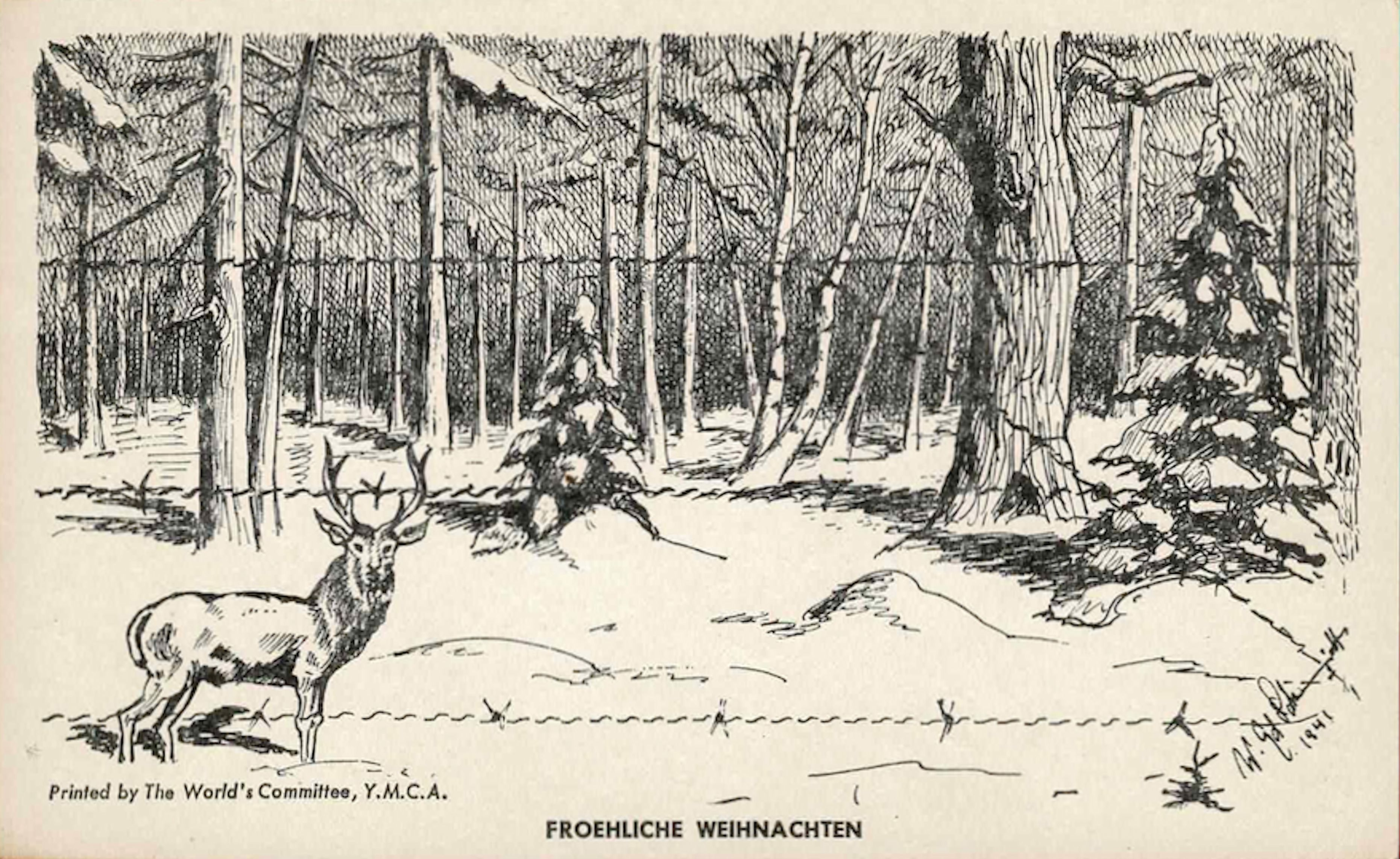 1941;Canada;The World's Committee, YMCA ; WW II-Era Christmas POW Card