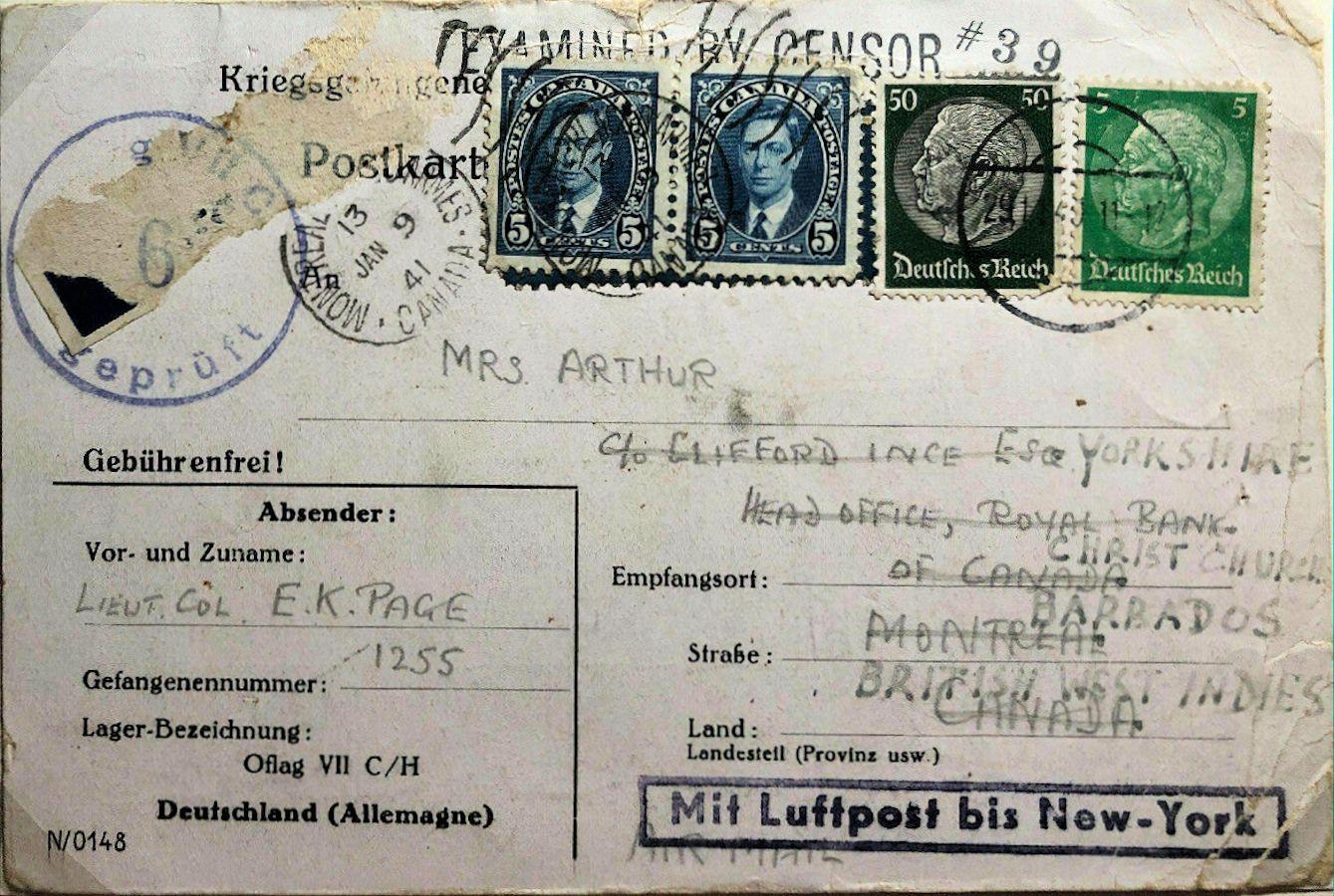 1940;Germany;Oflag VIIC/H ; WW II-Era Christmas POW Card