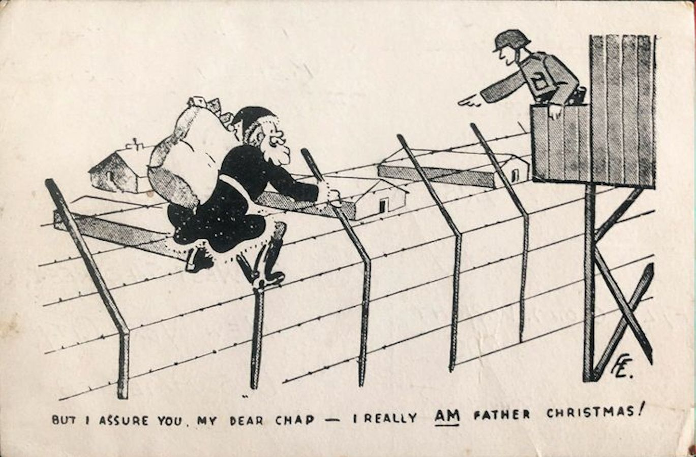 1941;Germany;Oflag VIB ; WW II-Era Christmas POW Card