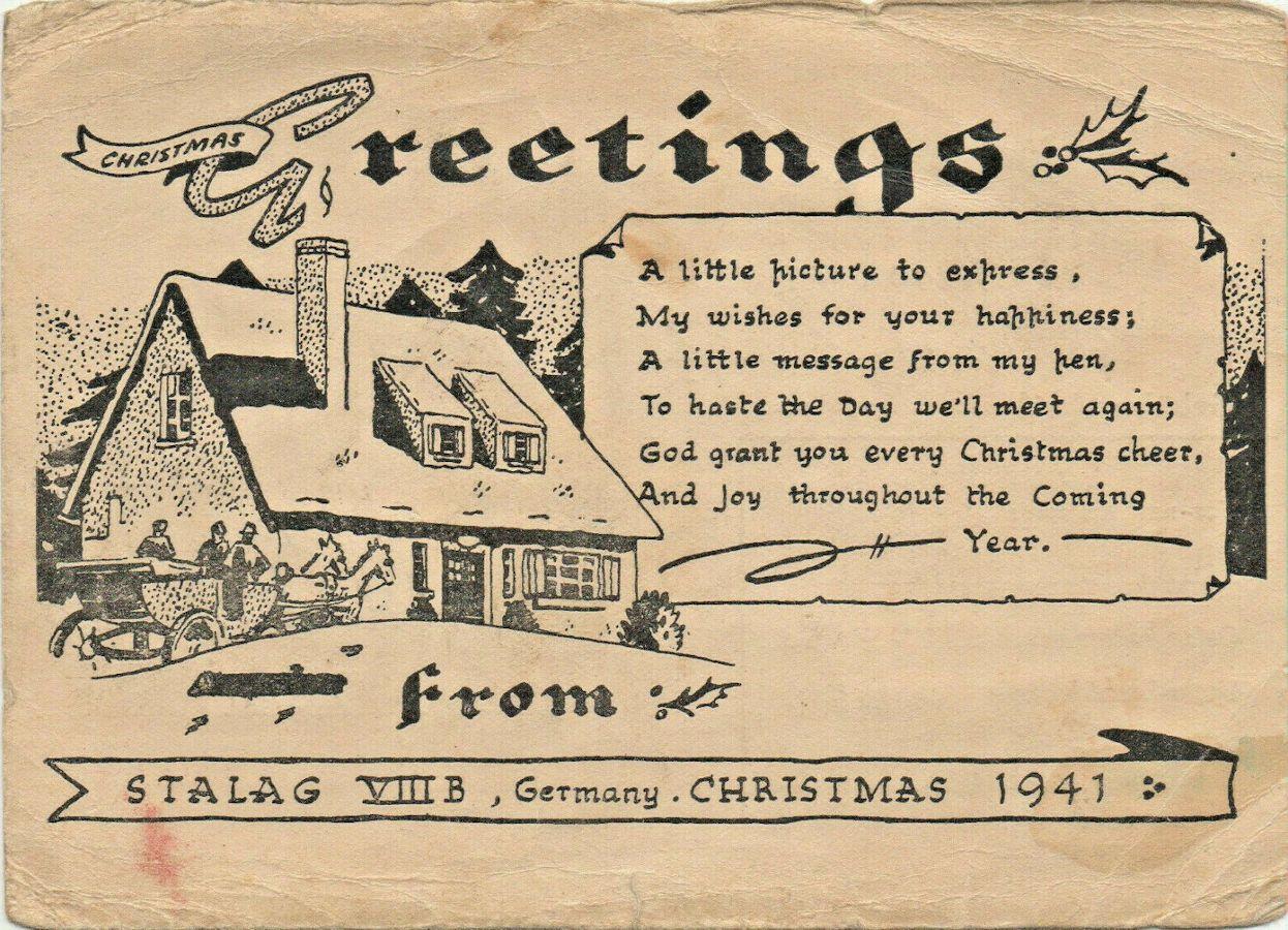 1941;Germany;Stalag VIIIB; OS Tageszeitung, Oppeln ; WW II-Era Christmas POW Card