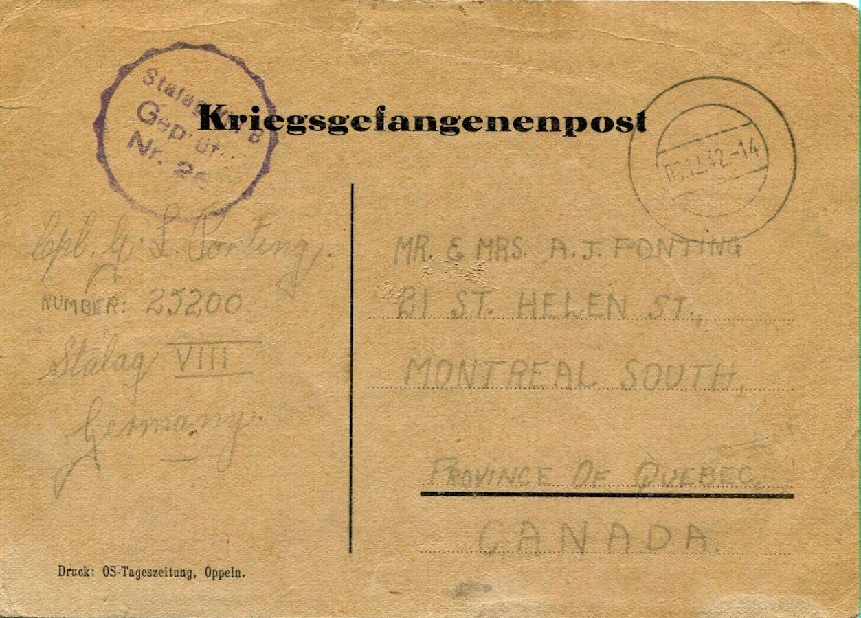 1942;Germany;Stalag VIIIB; OS Tageszeitung, Oppeln ; WW II-Era Christmas POW Card