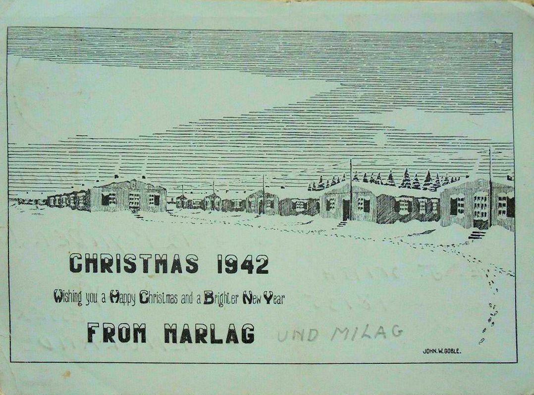 1942;Germany;Stalag XXII; H Gordon ; WW II-Era Christmas POW Card
