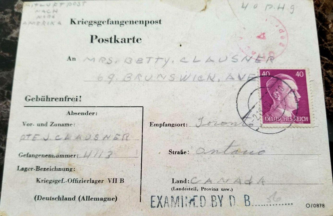 1943;Germany;Oflag VIIIB ; WW II-Era Christmas POW Card