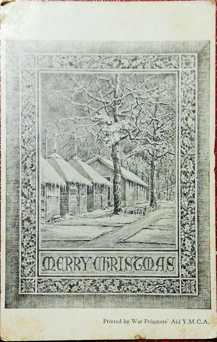 1944;US;War Prisoners Aid Y.M.C.A. ; WW II-Era Christmas POW Card