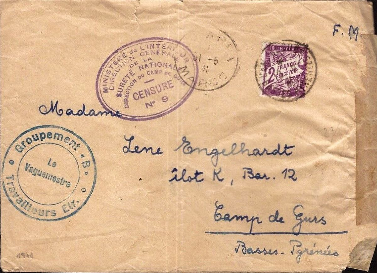 cover addressed to concentration camp