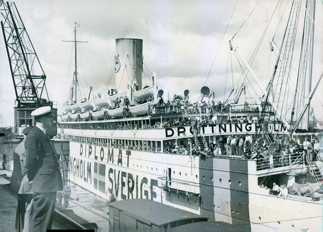 S.S. Drottningholm WW2 mercy ship