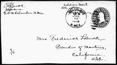 military mail from columbus new mexico
