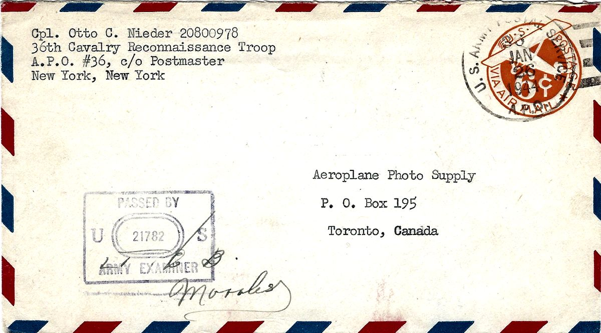 wwii airmail cover