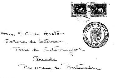censored mail from spanish civil war