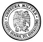 censor mark used during spanish civil war