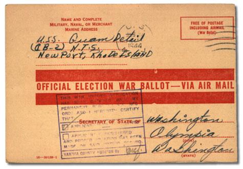 war ballot